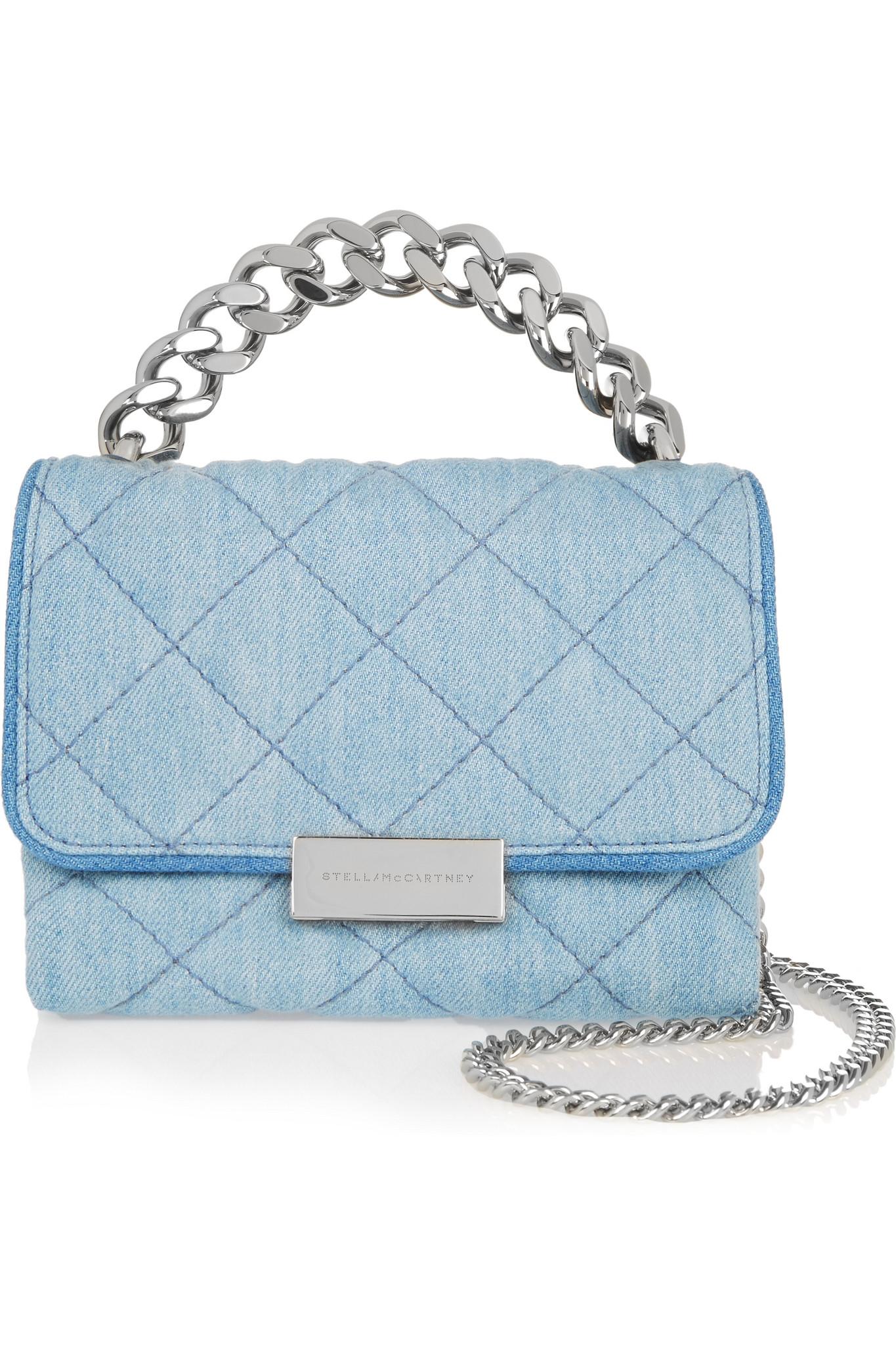 stella mccartney becket small shoulder bag in blue lyst. Black Bedroom Furniture Sets. Home Design Ideas