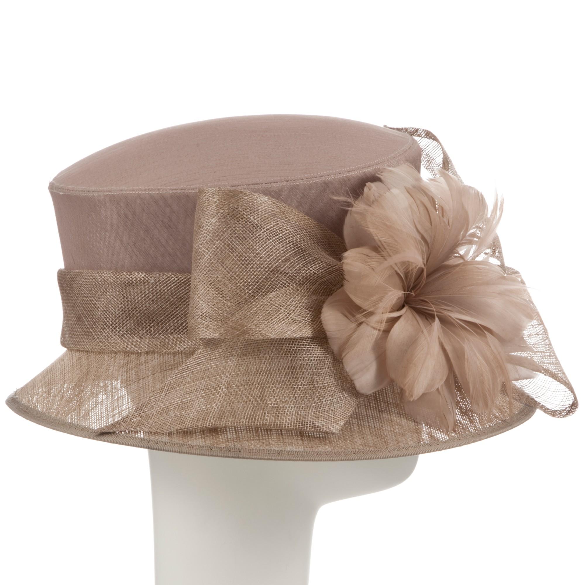1ed9ab367f6f0 John Lewis Lottie Small Down Brim Occasion Hat in Brown - Lyst