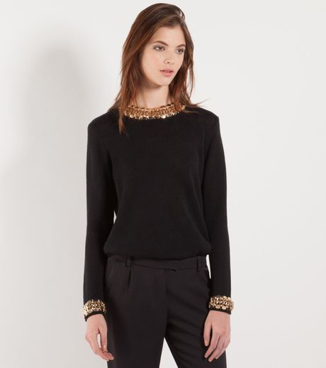 Sweater With Chain Trim 118