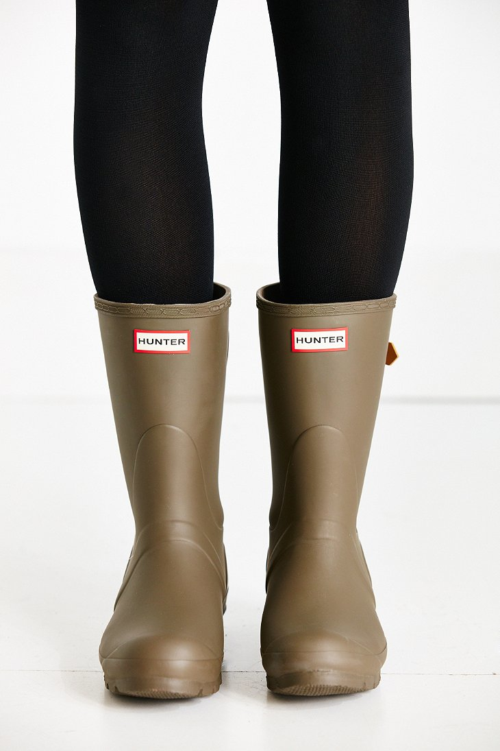 Lyst - Hunter Original Adjustable Back Short Rain Boot In Natural