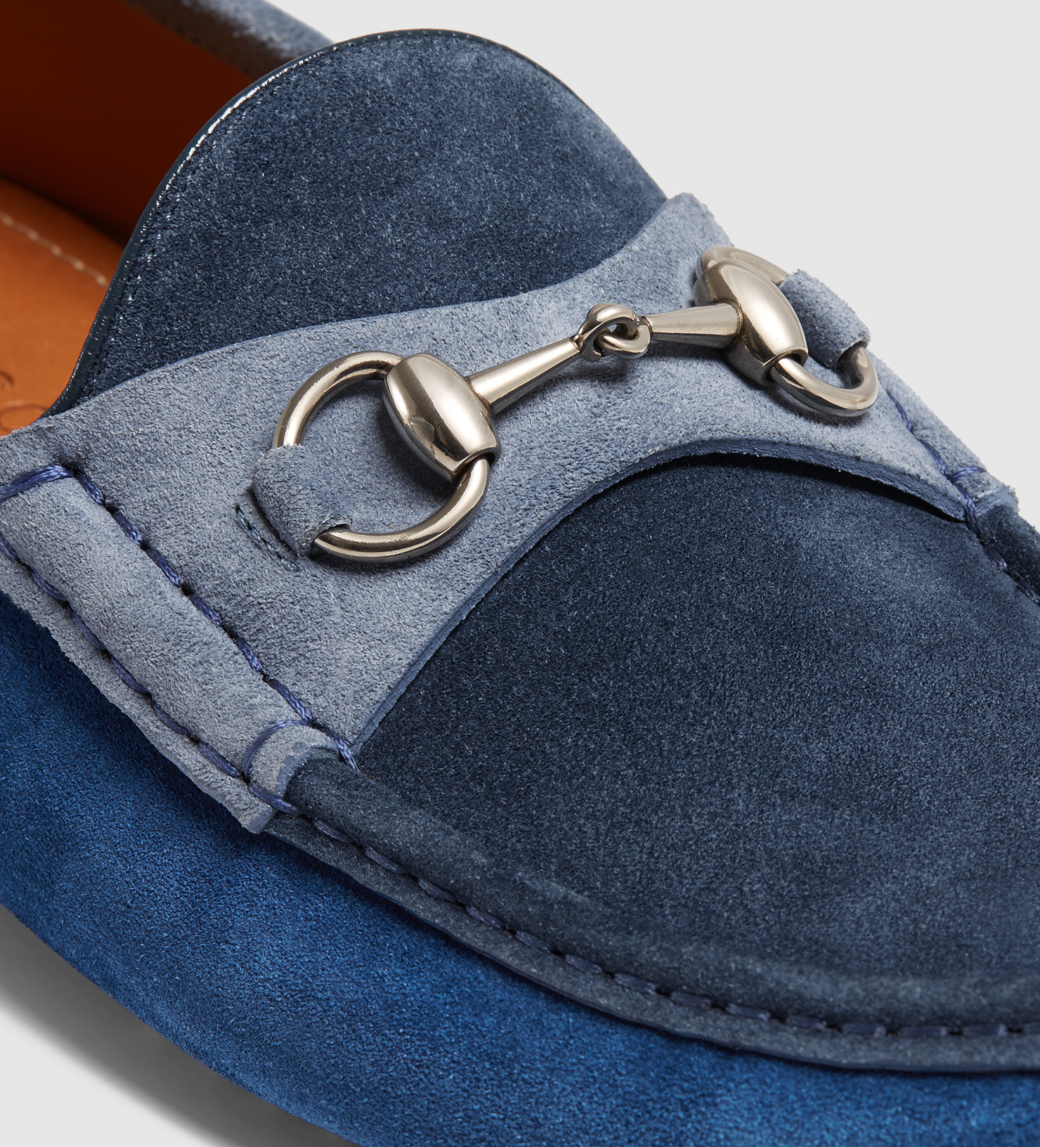 4bf6645ab Gucci Men's Suede Horsebit Driver in Blue for Men - Lyst