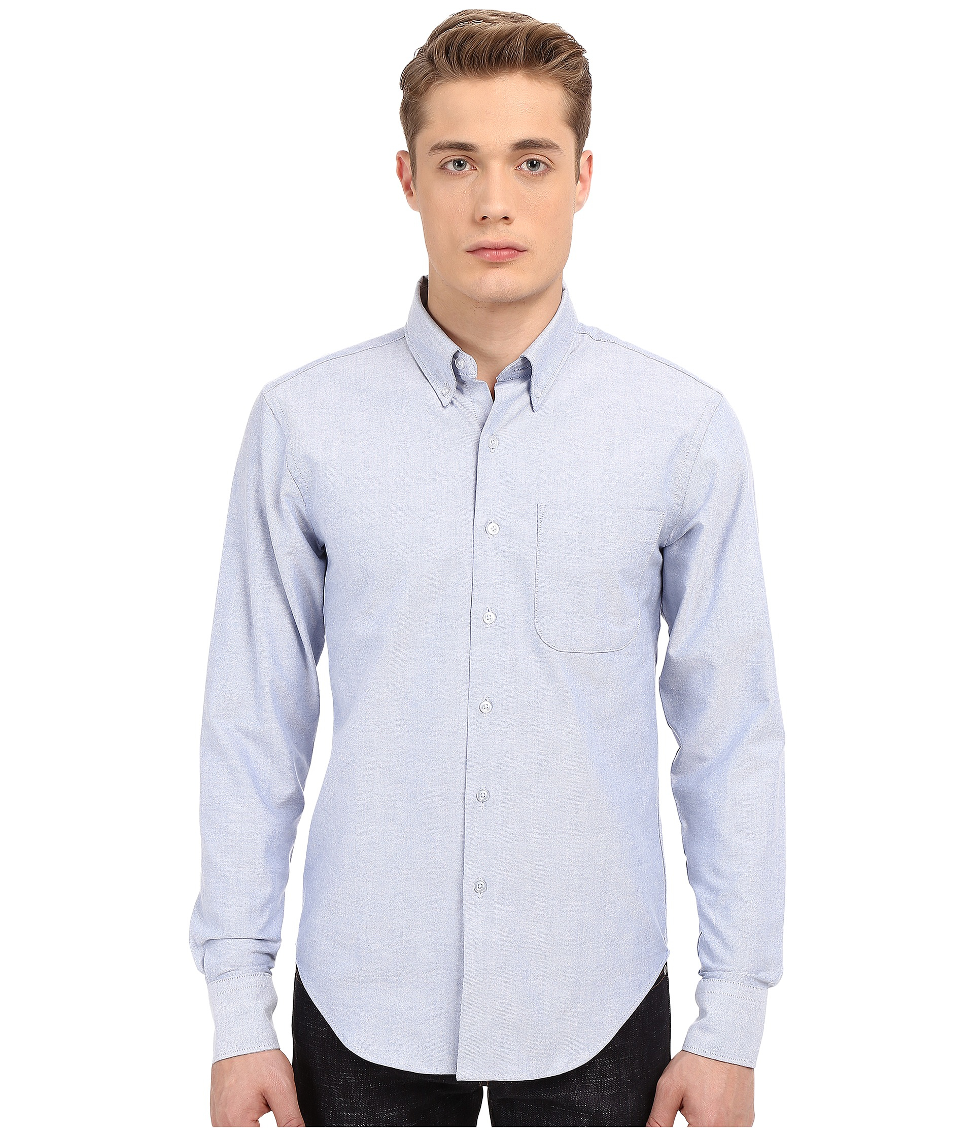 c8b76f5b11c Lyst - Naked   Famous Regular Fit Oxford Shirt in Blue for Men