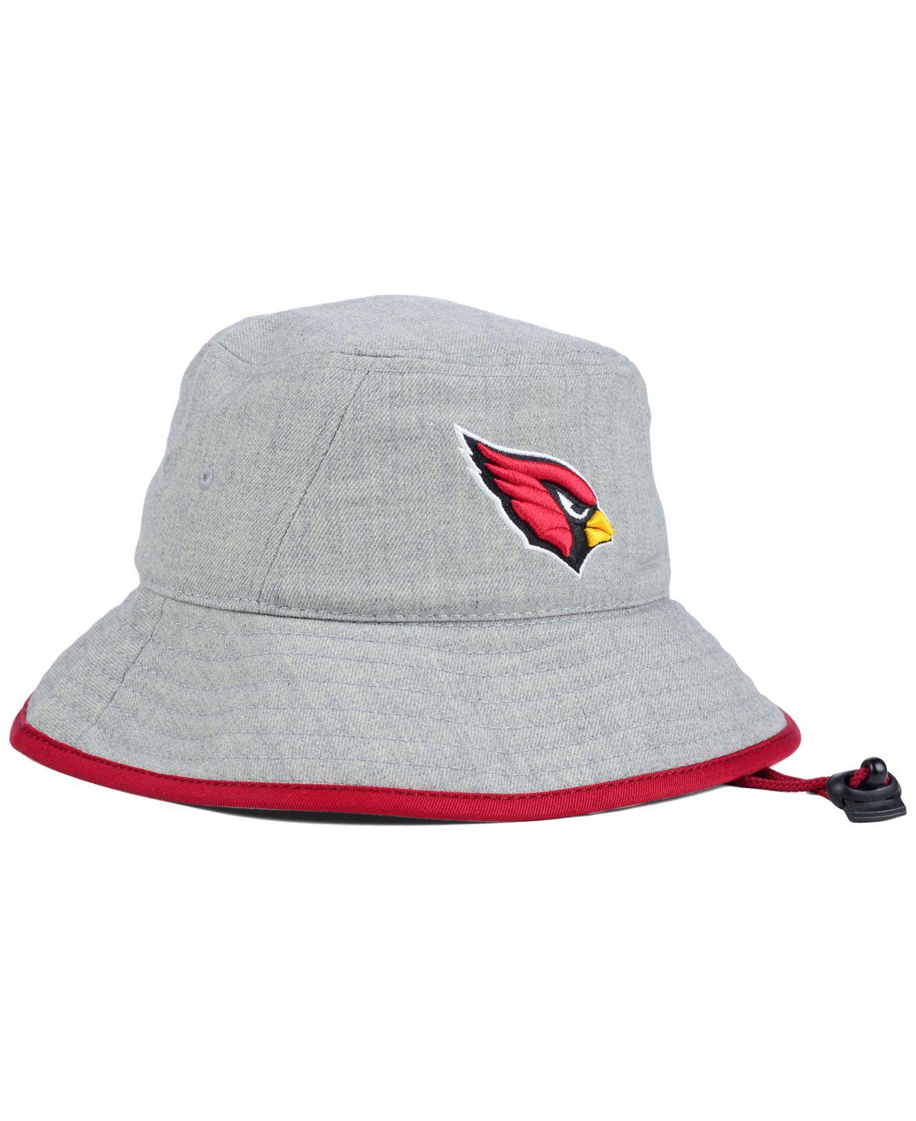 on sale efc01 56d39 ... where to buy lyst ktz arizona cardinals nfl heather gray bucket hat in  gray for men