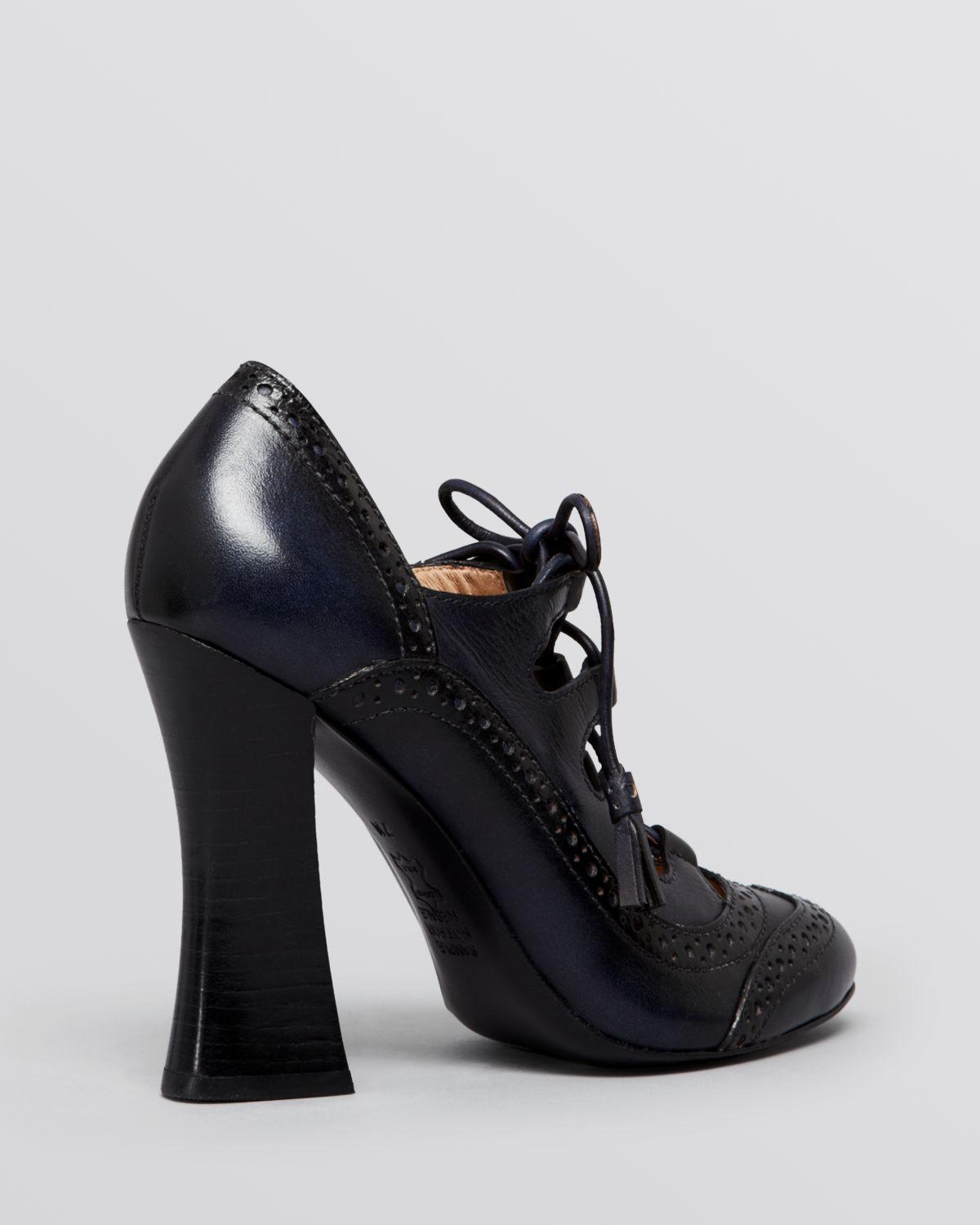 Tory Burch Lace Up Ghillie Oxford Pumps Astrid High Heel