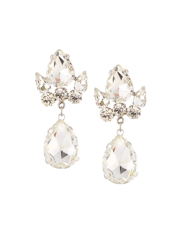 Fragments Crystal Filigree Statement Earrings ZOWEwSX5r