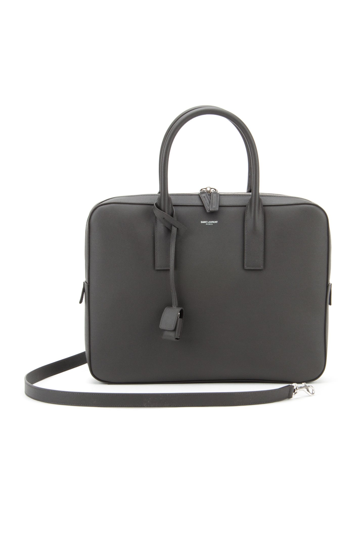 Saint laurent Ysl Museum Hunting Line Briefcase in Gold (COAL) | Lyst