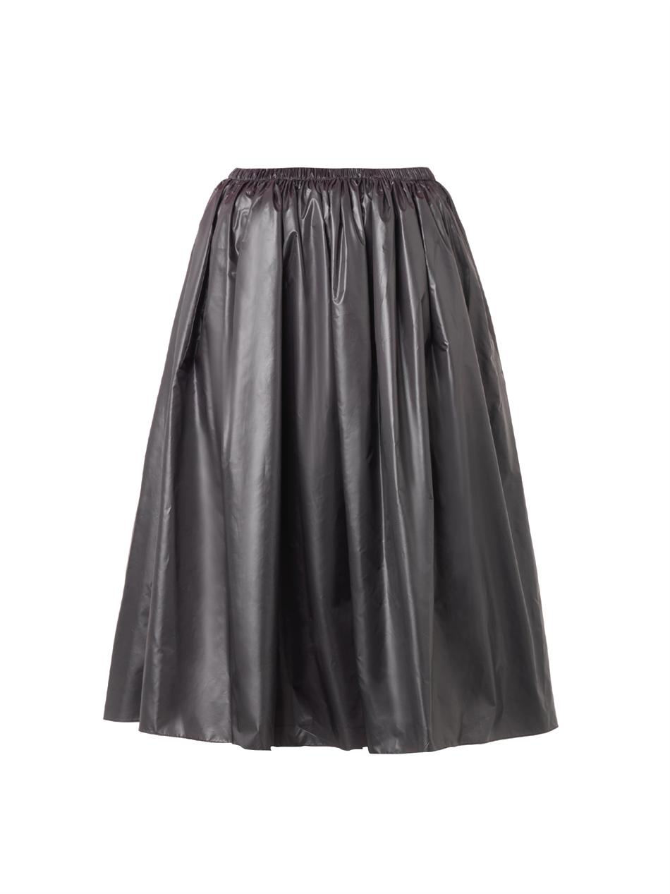 christopher ruched midi skirt in gray lyst