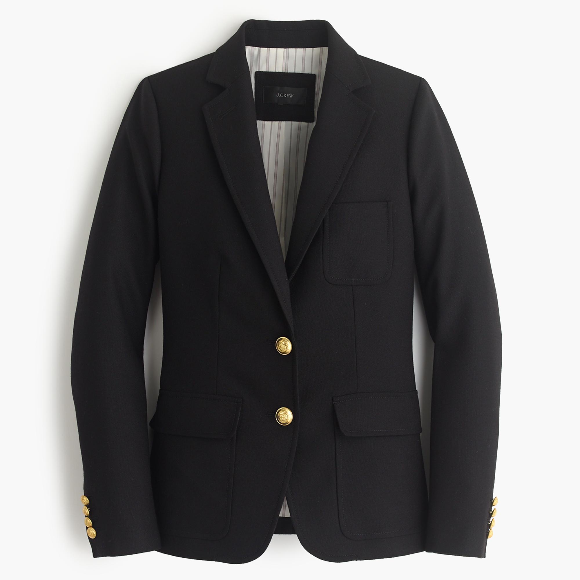 Black Petite Rhodes Blazer In Italian Wool