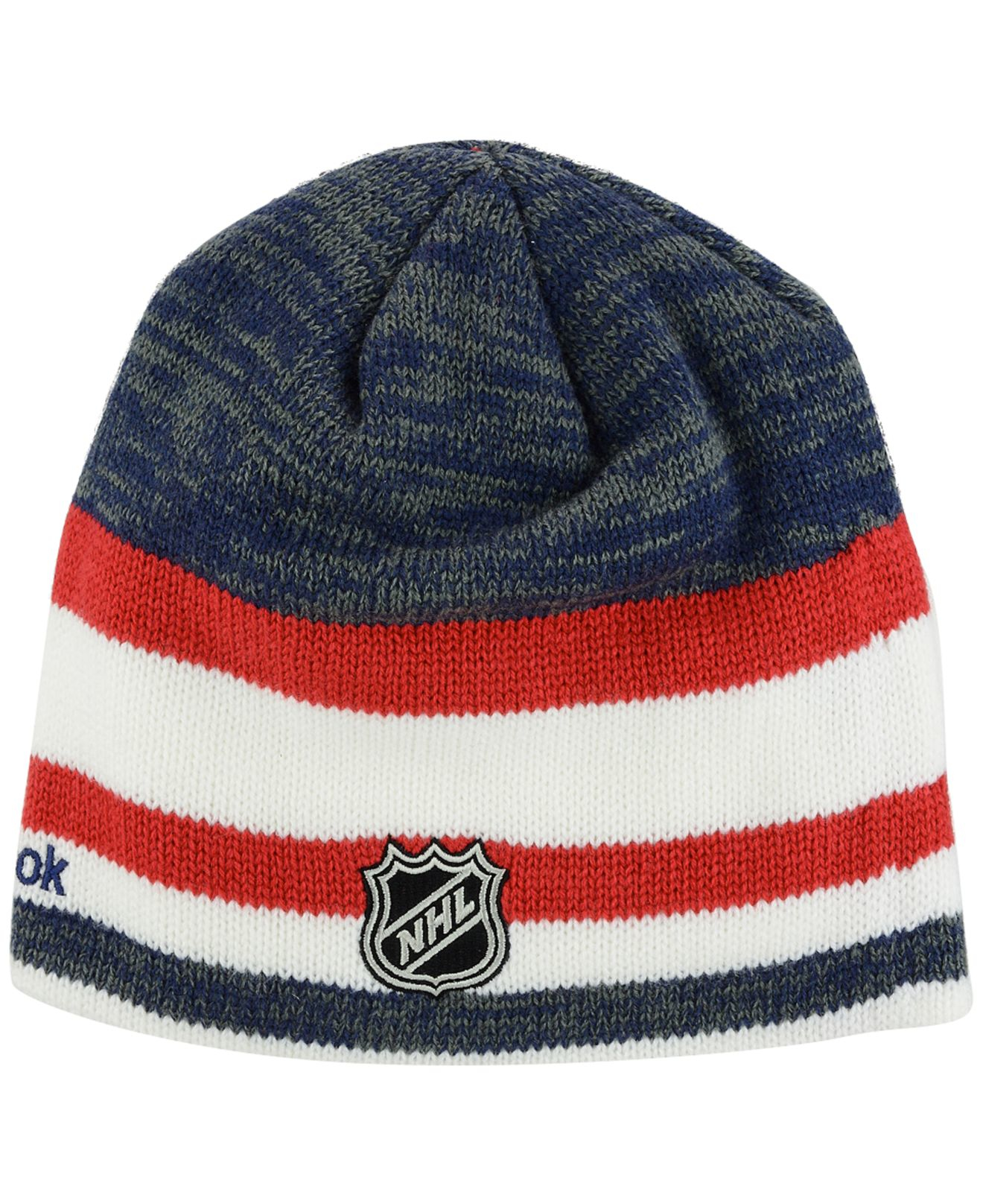 19922e66637ca9 Lyst - Reebok Montreal Canadiens Player Knit Hat in Blue for Men