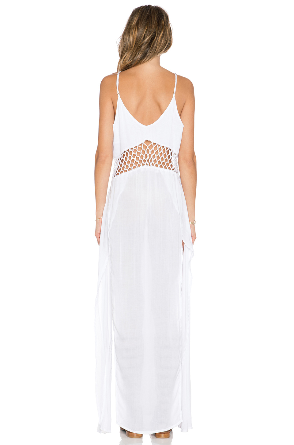 beca754bed Lyst - Indah Ulima Maxi Dress in White