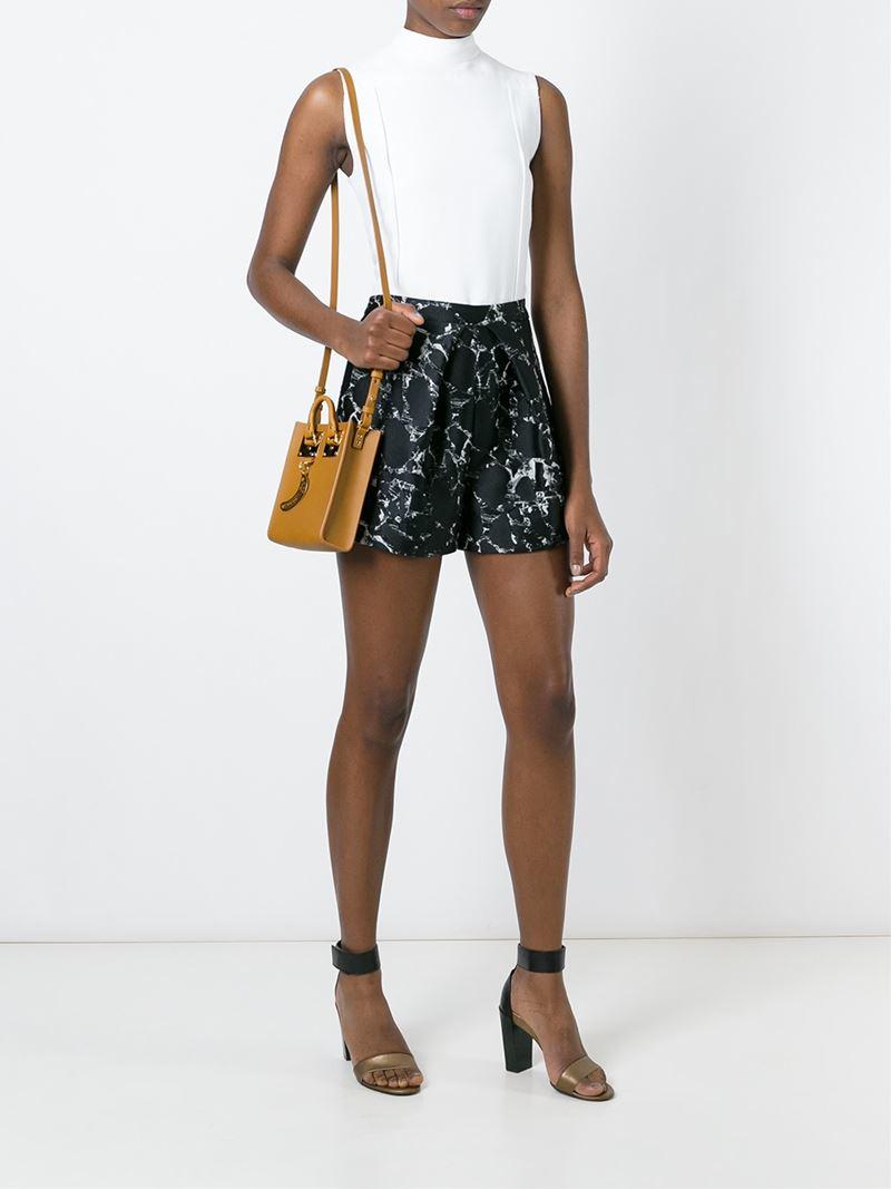 2c7339136 Sophie Hulme Micro 'albion' Crossbody Bag in Brown - Lyst