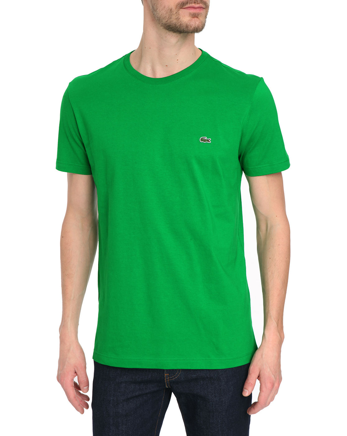 Lacoste basic mint green t shirt in green for men mint for Mint color polo shirt