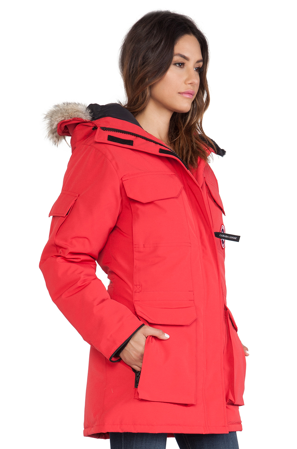 Canada Goose kensington parka outlet official - Canada goose Expedition Parka With Coyote Fur Trim in Red | Lyst