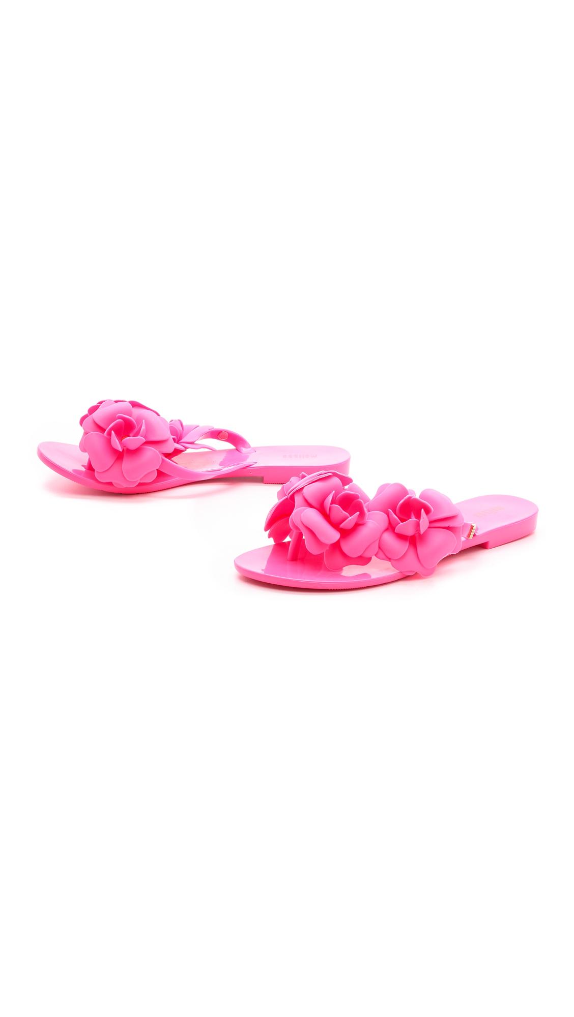 Lyst Melissa Harmonic Flower Flip Flops White In Pink