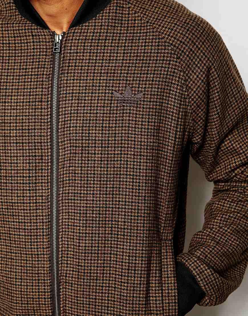06e575625e94 Lyst - adidas Originals Tweed Bomber Jacket Ab7641 in Brown for Men