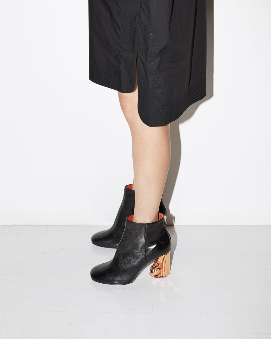 lyst acne studios ora palm ankle boot in black. Black Bedroom Furniture Sets. Home Design Ideas