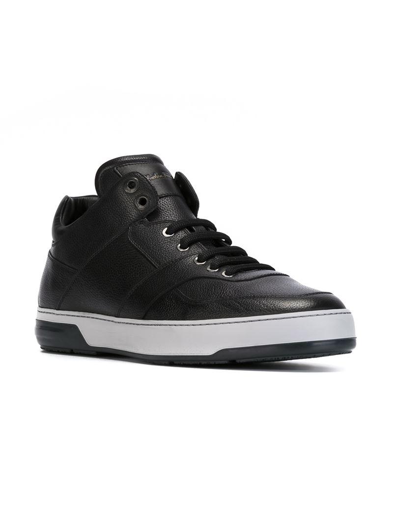 4980e49942ac9 Lyst - Ferragamo Monroe High-Top Sneakers in Black for Men
