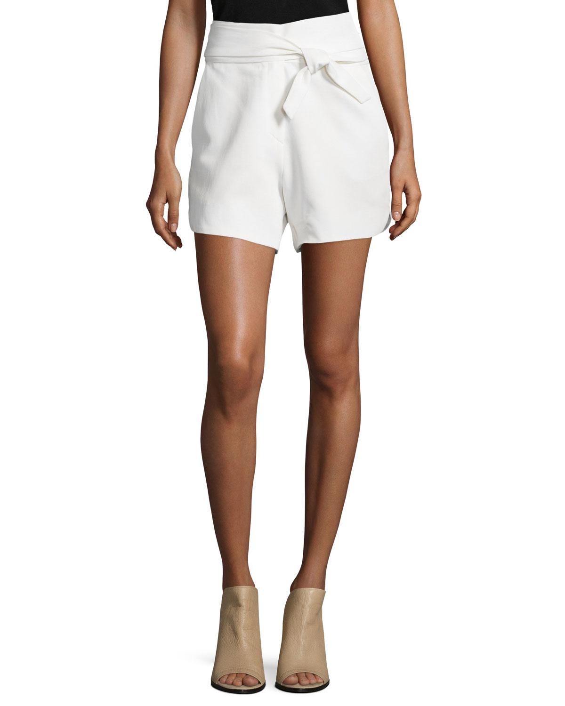 99e8c91317 ... Kookai Womens Robe manches courtes Midi Short sleeve Dress  finest  selection 46d85 23be5 Lyst - Iro Magik High-waist Belted Shorts ...