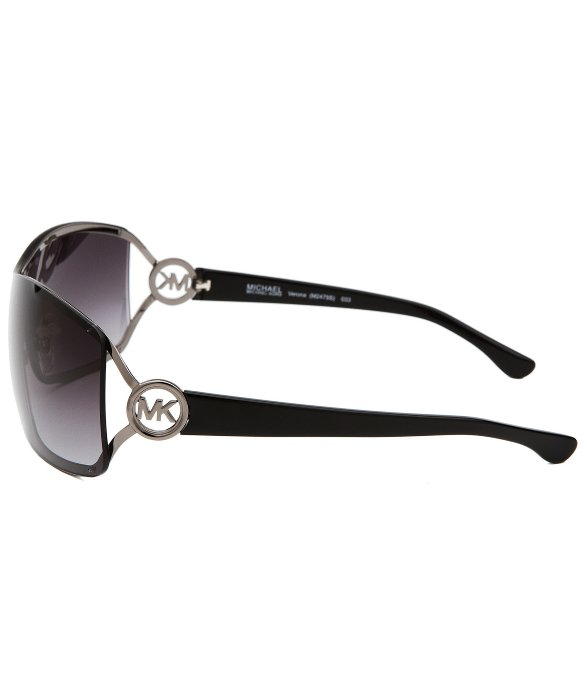 Michael Kors Women S Sunglasses  michael michael kors womens verona shield gunmetal sunglasses in