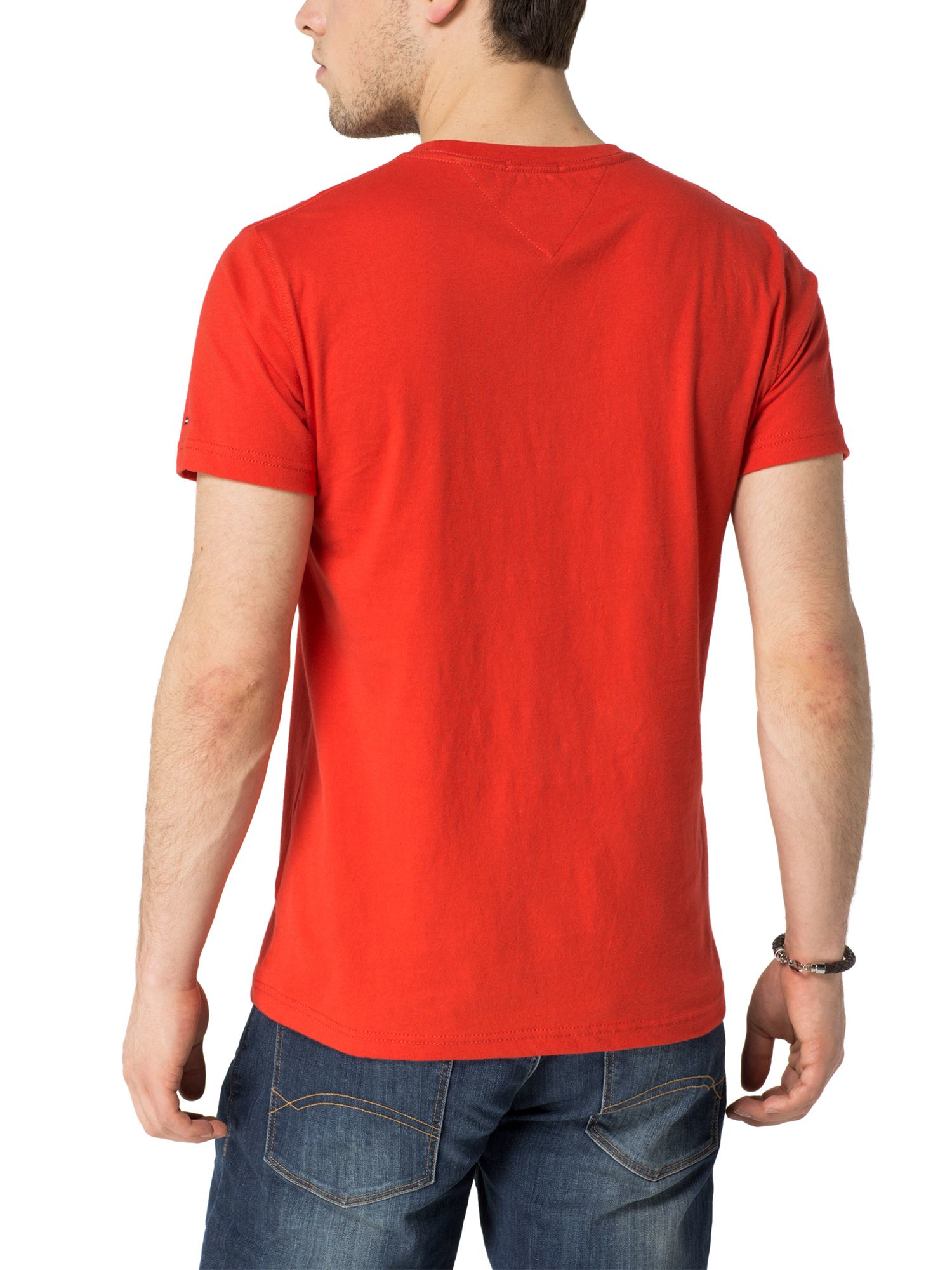 tommy hilfiger hilfiger t shirt in red for men lyst. Black Bedroom Furniture Sets. Home Design Ideas