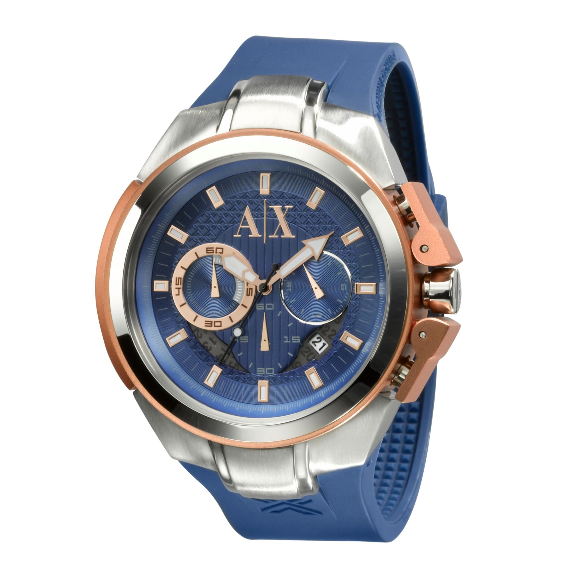 armani exchange ax armani exchange watch mens chronograph blue gallery