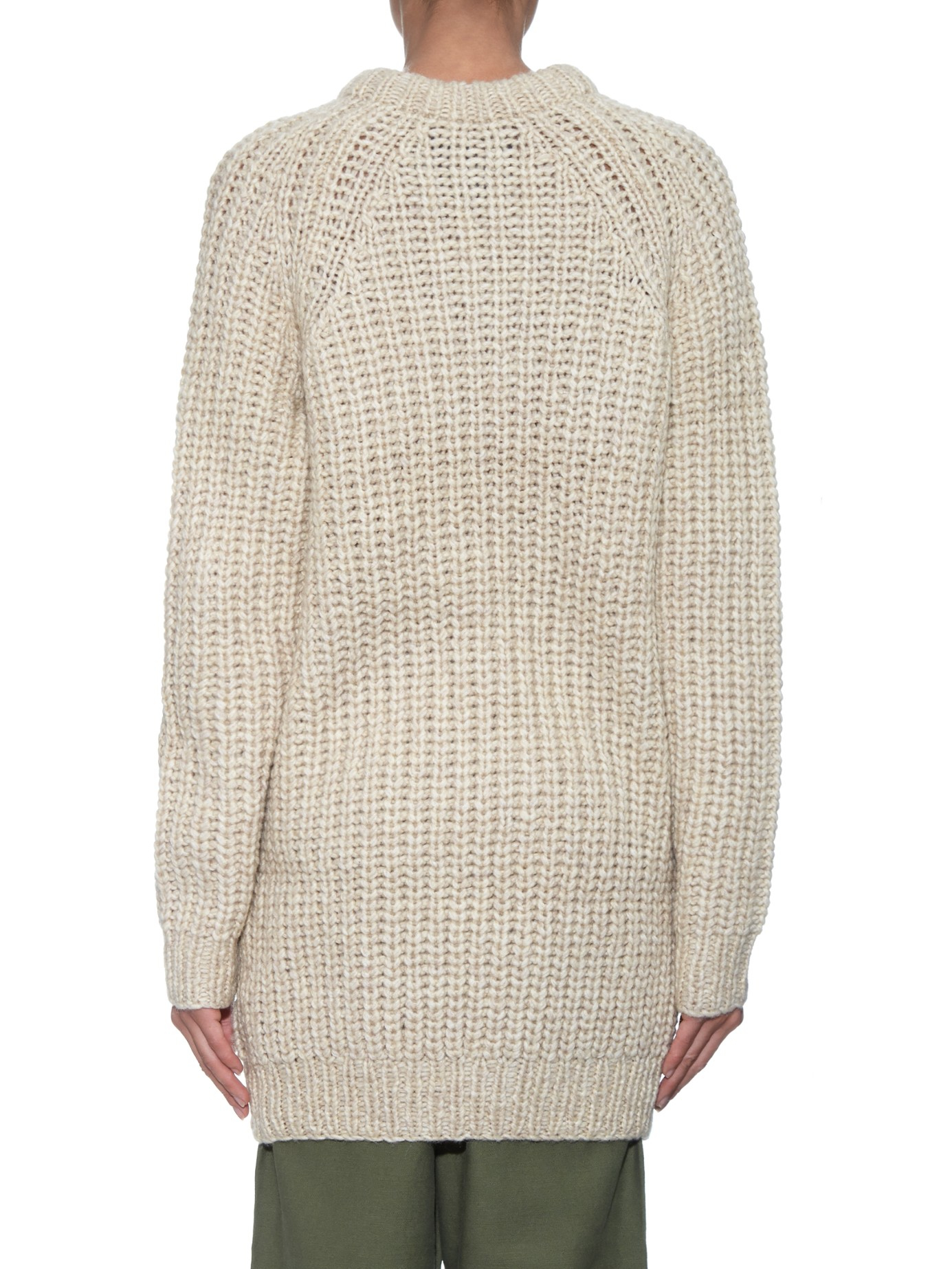 Nlst Fisherman Ribbed-knit Sweater in Natural | Lyst