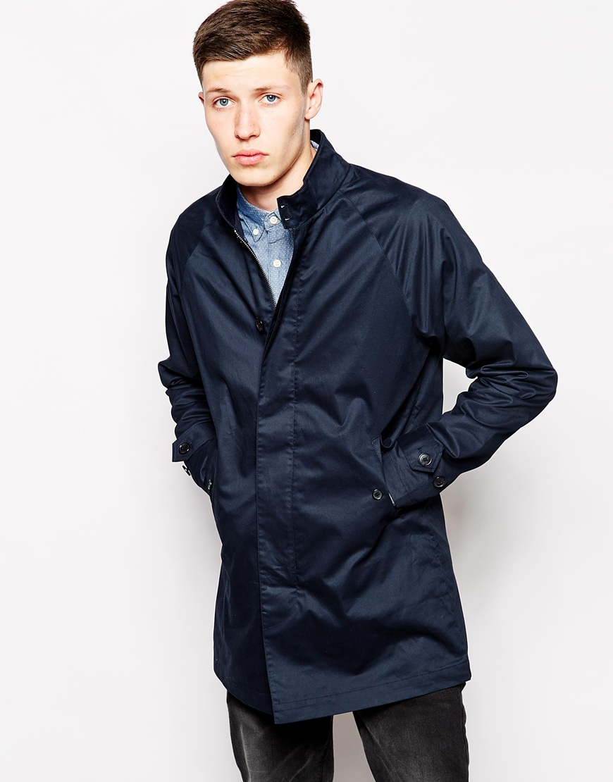 ben sherman harrington mac jacket in blue for men lyst. Black Bedroom Furniture Sets. Home Design Ideas