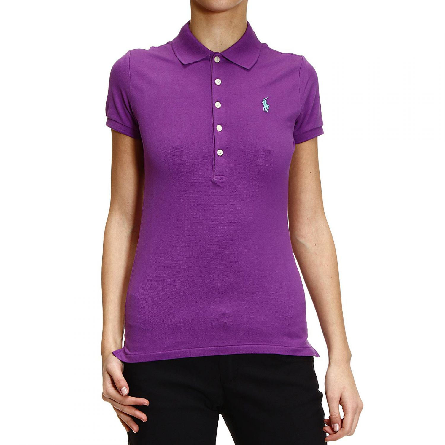 ralph lauren t shirt polo 5 buttons half sleeve nido d 39 ape stretch in purple lyst. Black Bedroom Furniture Sets. Home Design Ideas