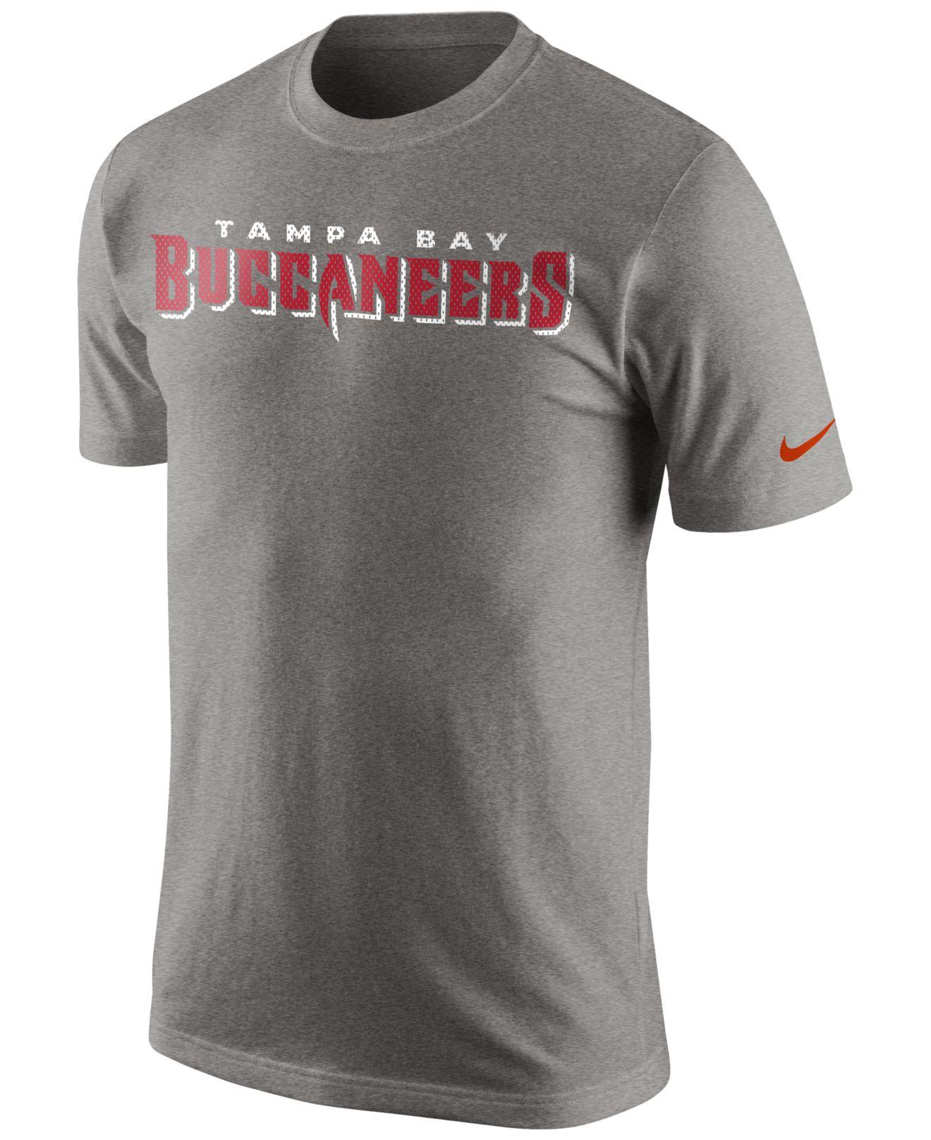 Nike Men S Tampa Bay Buccaneers Mesh Wordmark T Shirt In Gray For Men Lyst