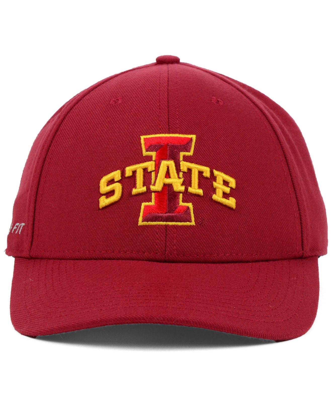 official photos 32a70 980ab free shipping lyst nike iowa state cyclones dri fit swooshflex cap in red  for men c02d3