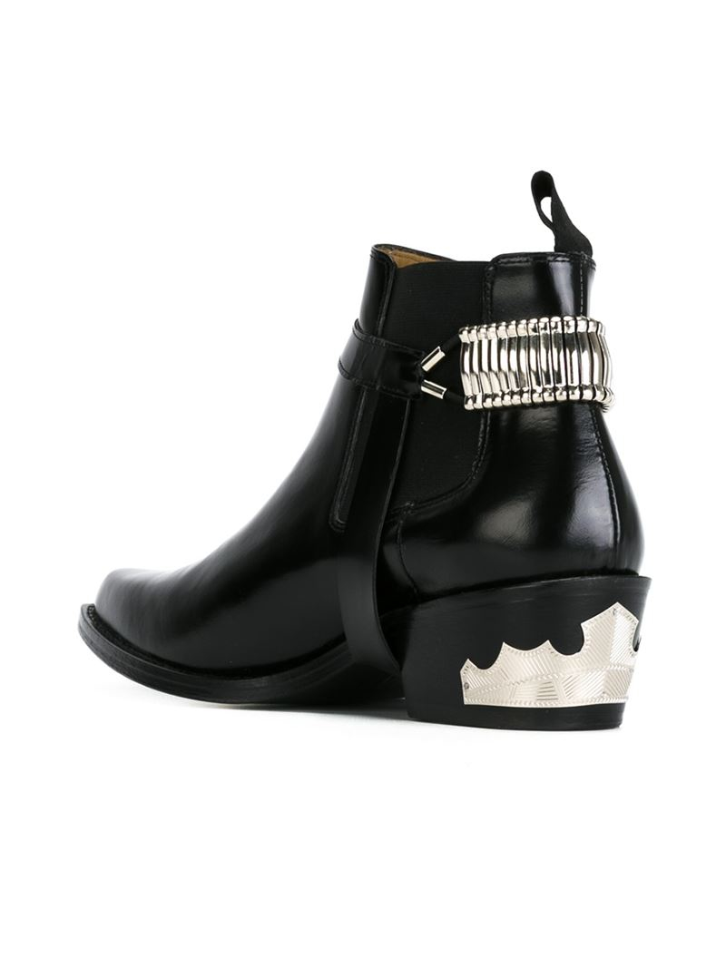Lyst Toga Pulla Western Chelsea Boots In Black