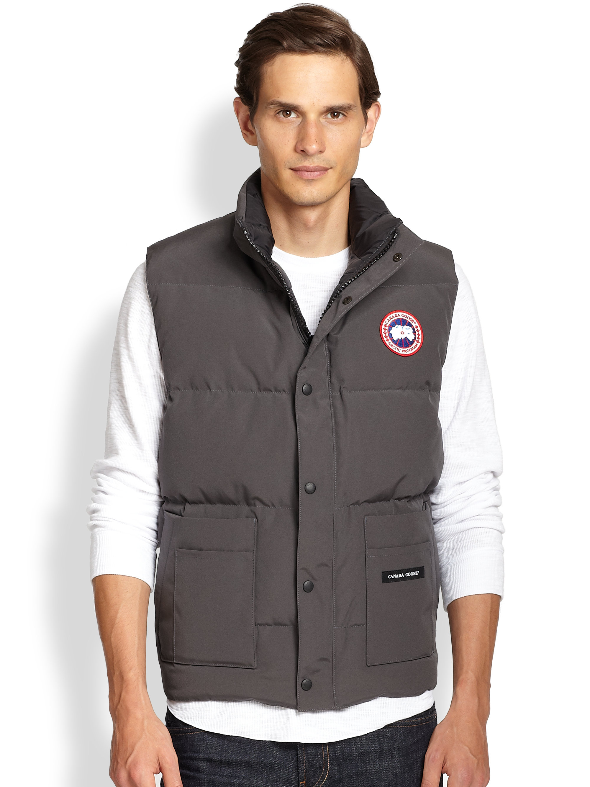 Canada Goose kensington parka outlet cheap - Canada goose Freestyle Puffer Vest in Gray for Men (GRAPHITE) | Lyst