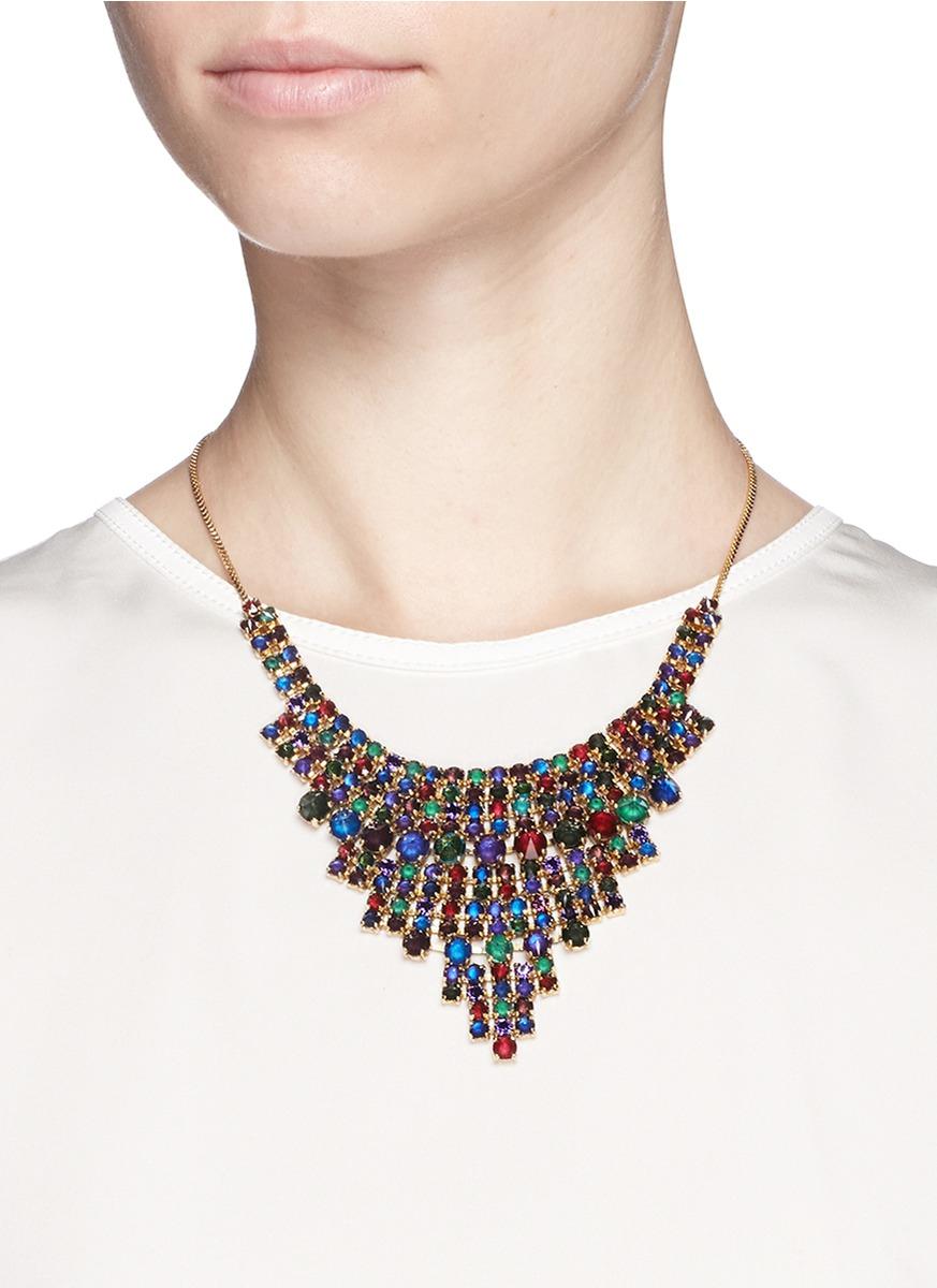 how to make swarovski crystal necklace