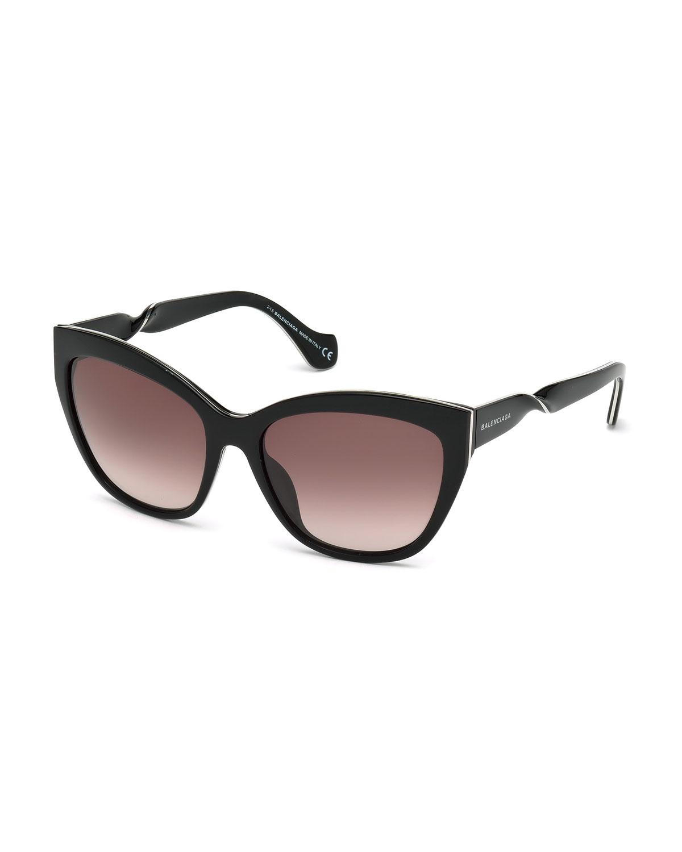 bfe5bd4e918e4 Balenciaga Cat-eye Acetate Sunglasses