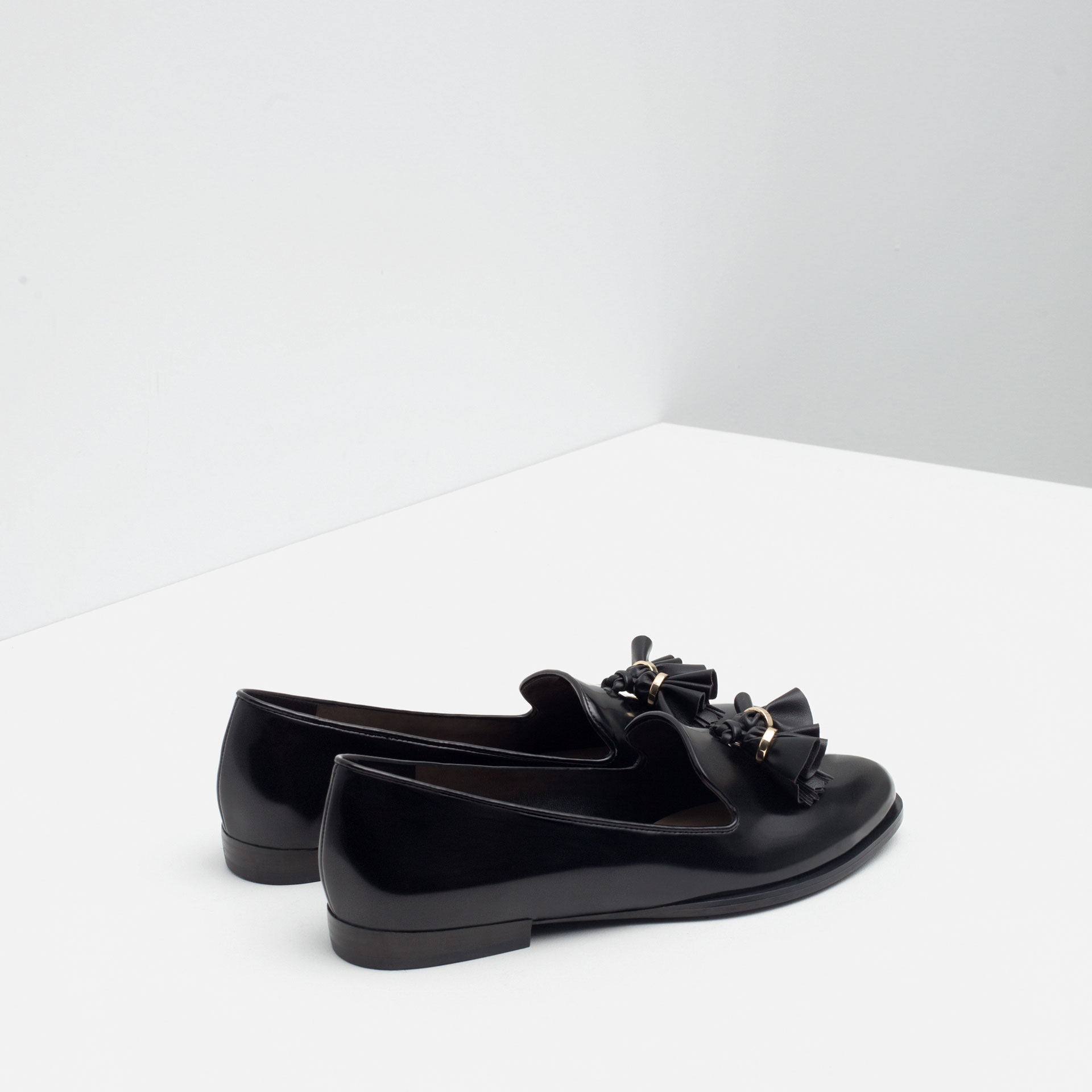 Creative Zara  Multicolor Flat Shoes With Metal Heel Detail  Lyst