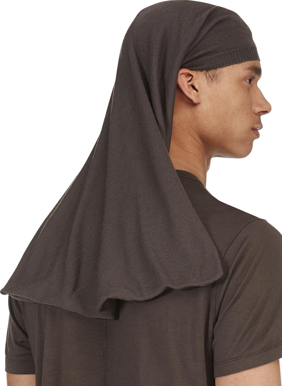 Lyst - Rick Owens Grey Knit Veil Hat in Gray for Men d182359b4cd5