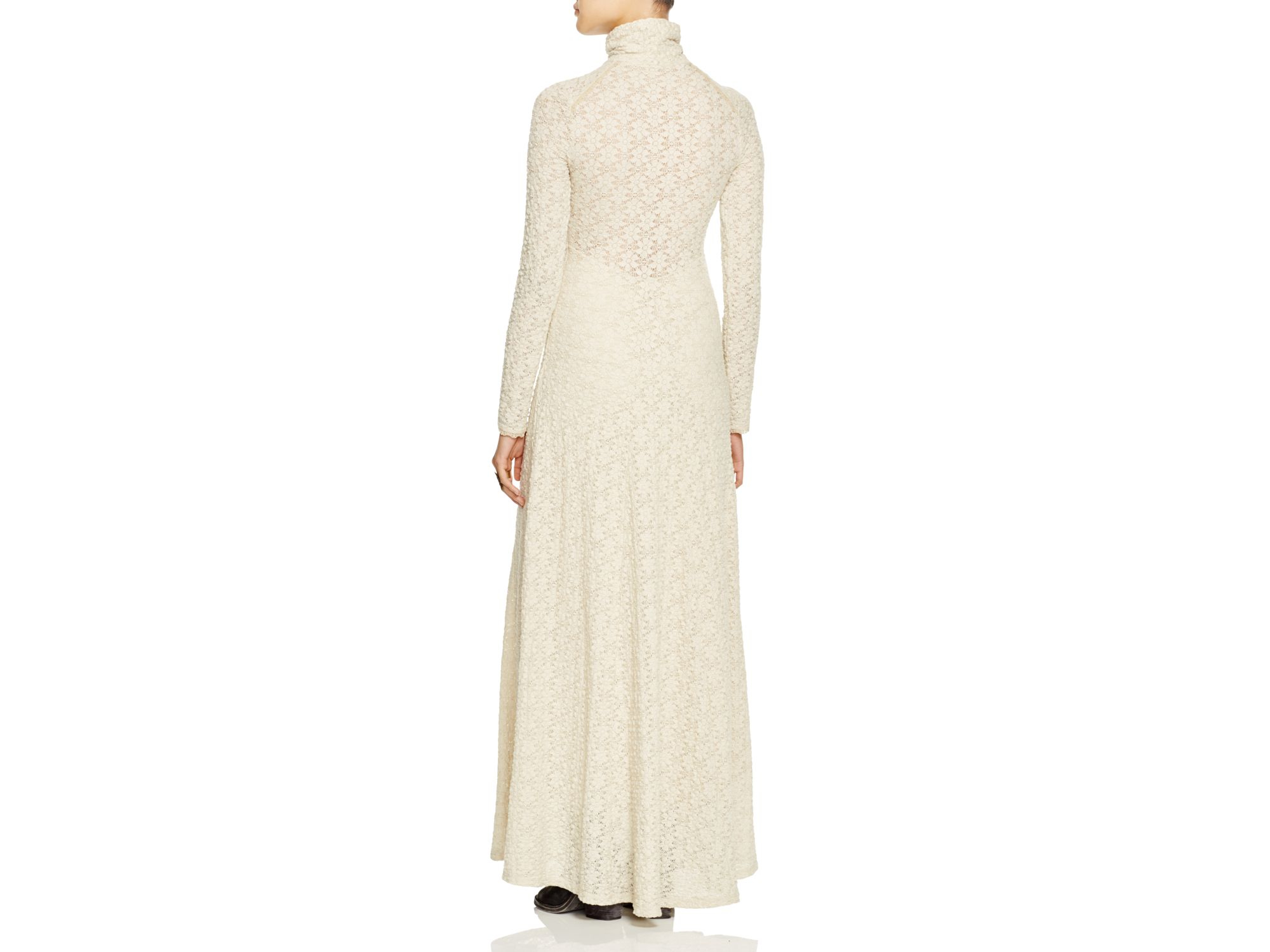 71297464310 Free People White River Lace Maxi Dress in Brown - Lyst
