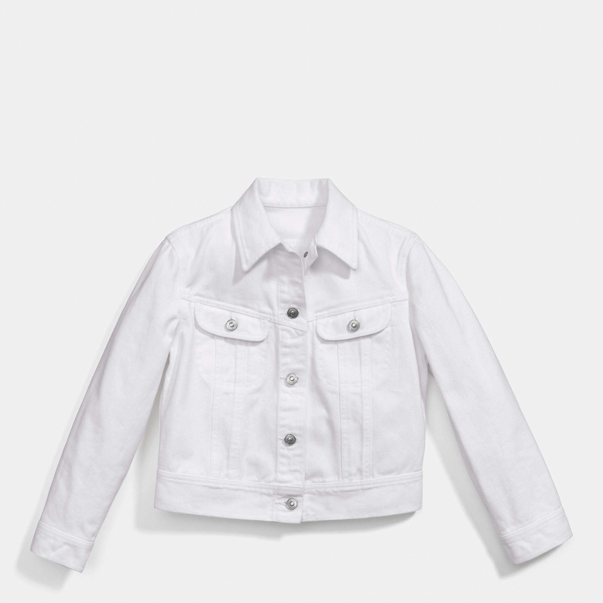 Coach White Denim Jean Jacket in White | Lyst