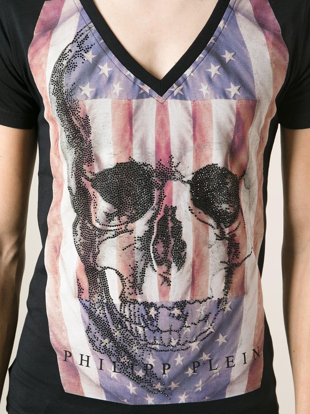 d143624291 Philipp Plein American Print Tshirt in Black for Men - Lyst