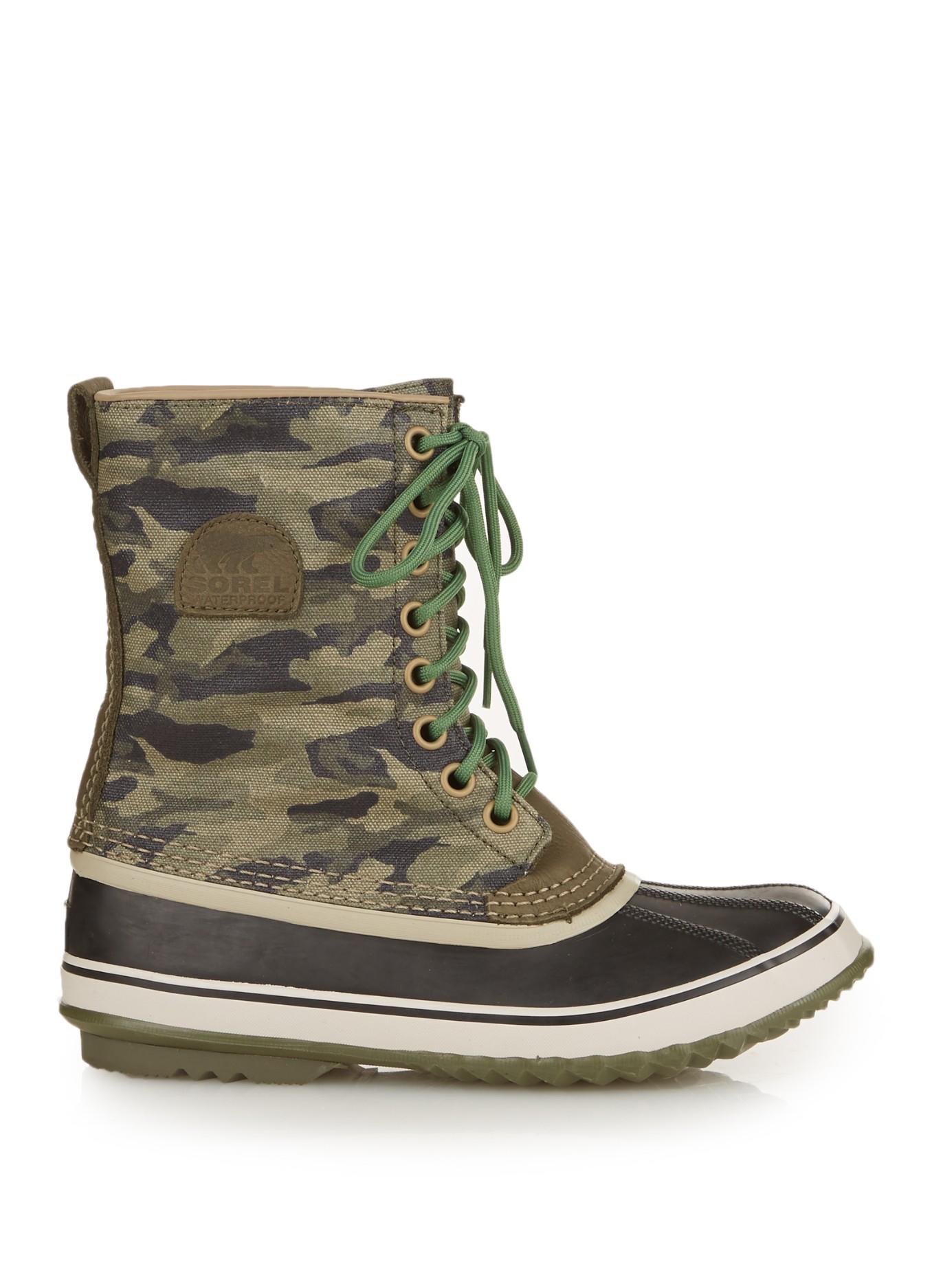19e490667a411 Sorel 1964 Premium Camouflage-Print Ankle Boots - Lyst