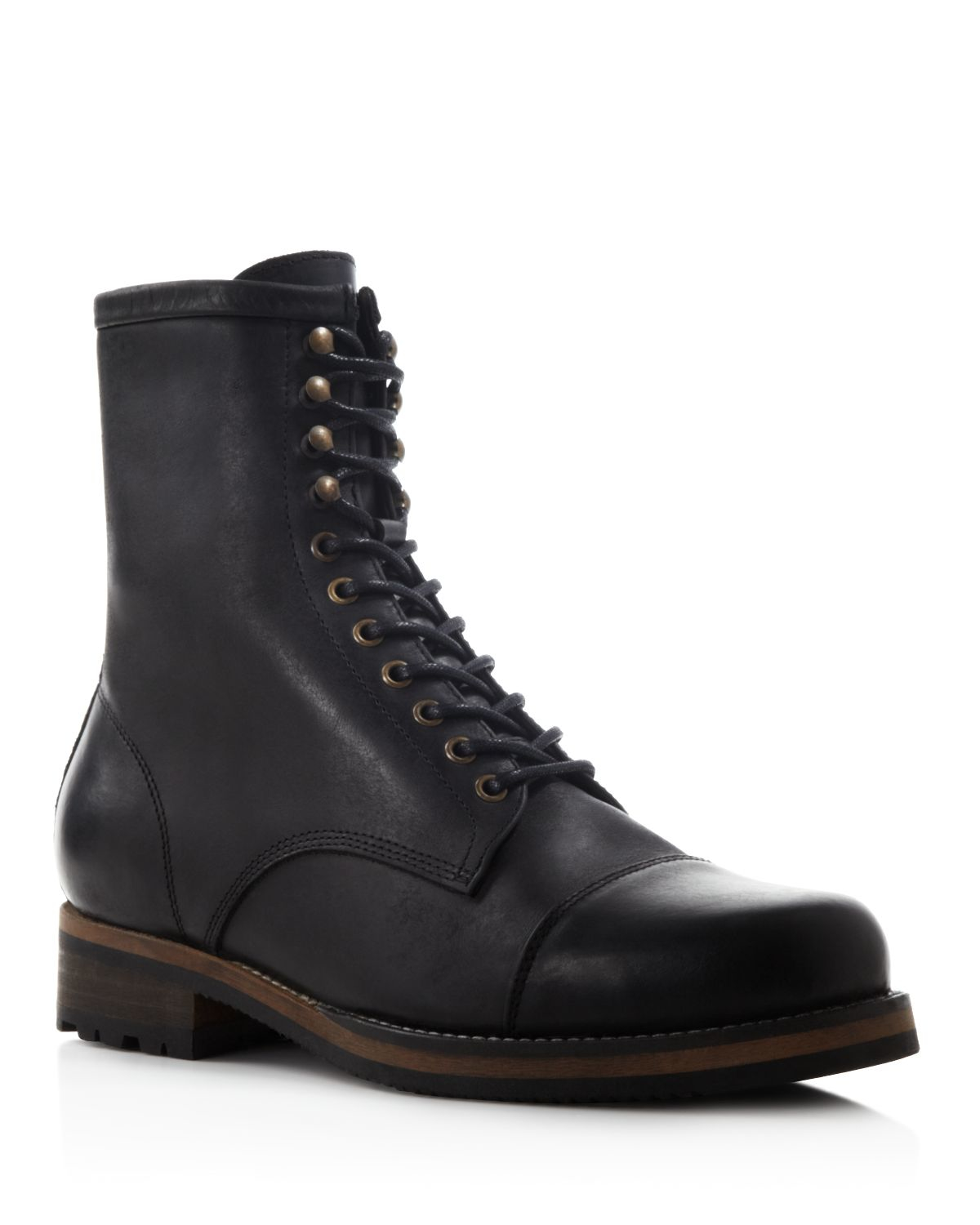 h by hudson thruxton high boots in black for lyst