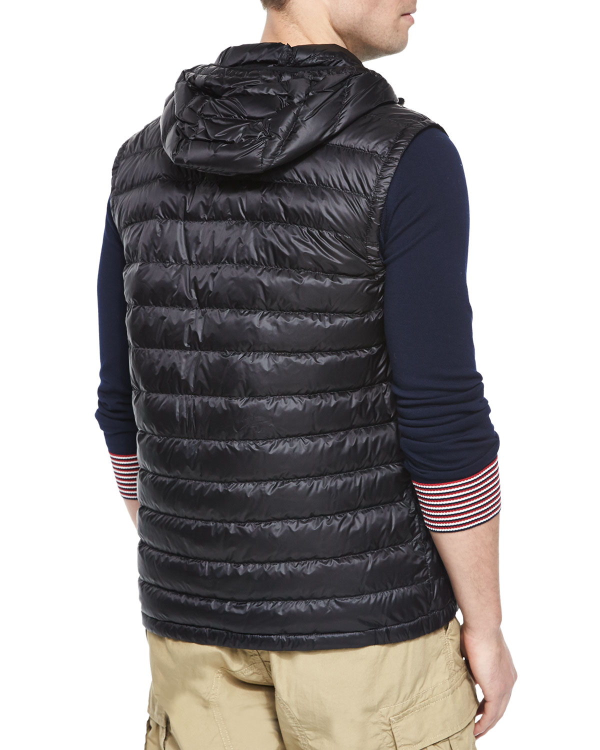 6320248e5 Lyst - Moncler Naples Quilted Hooded Vest in Gray for Men