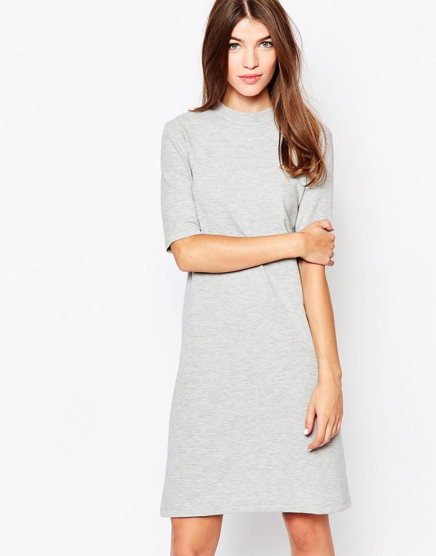 Grey Shirt Dress for Weddings