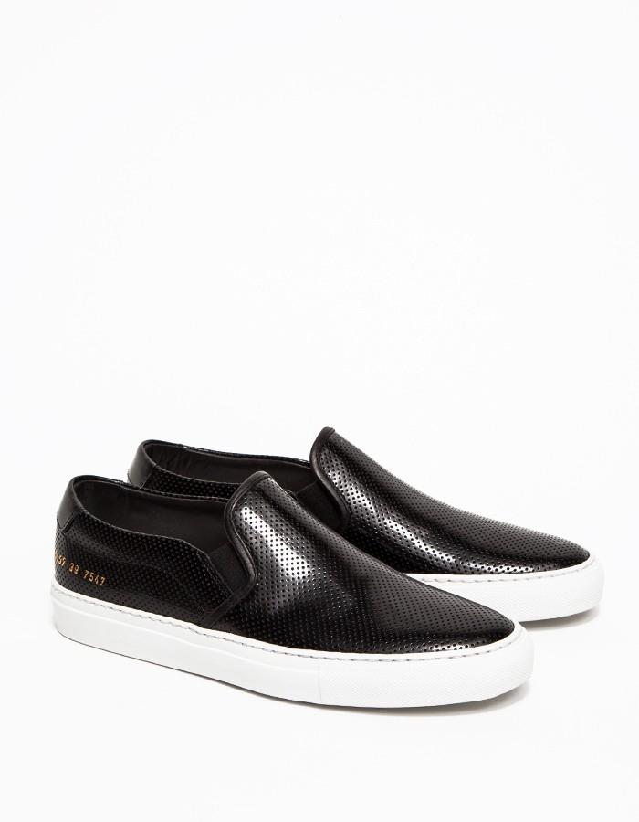 Projets Communs Glisser Sur Chaussures De Sport - Noir 2dlCsPjgvq