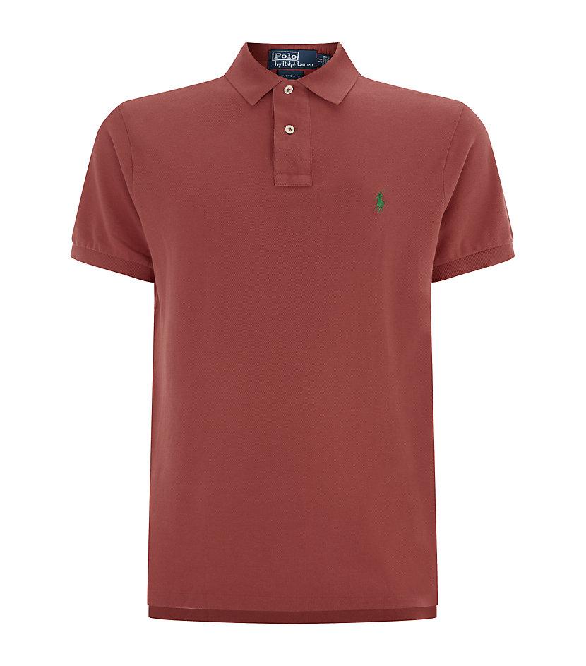 Polo ralph lauren weathered mesh custom fit polo shirt in for Polo ralph lauren custom fit polo shirt