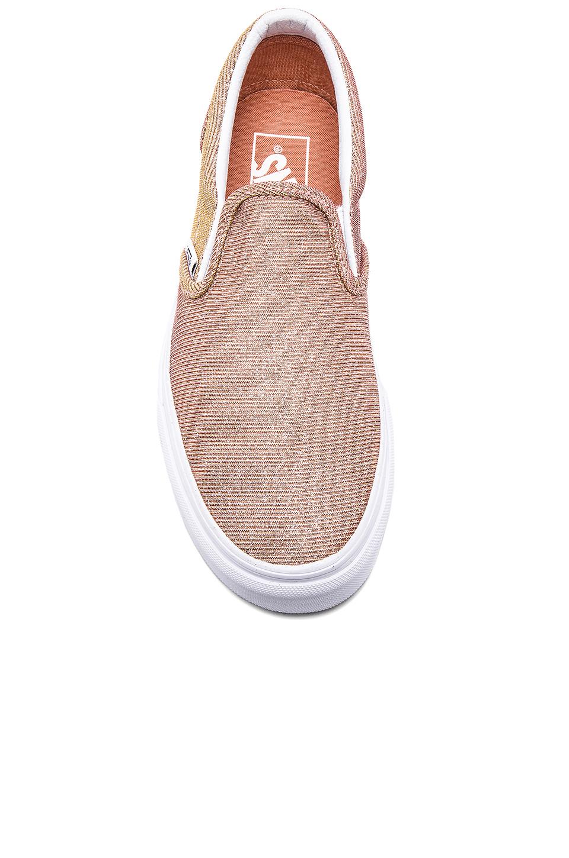 fe180c25360028 Lyst - Vans Classic Slip On Sneaker in Pink