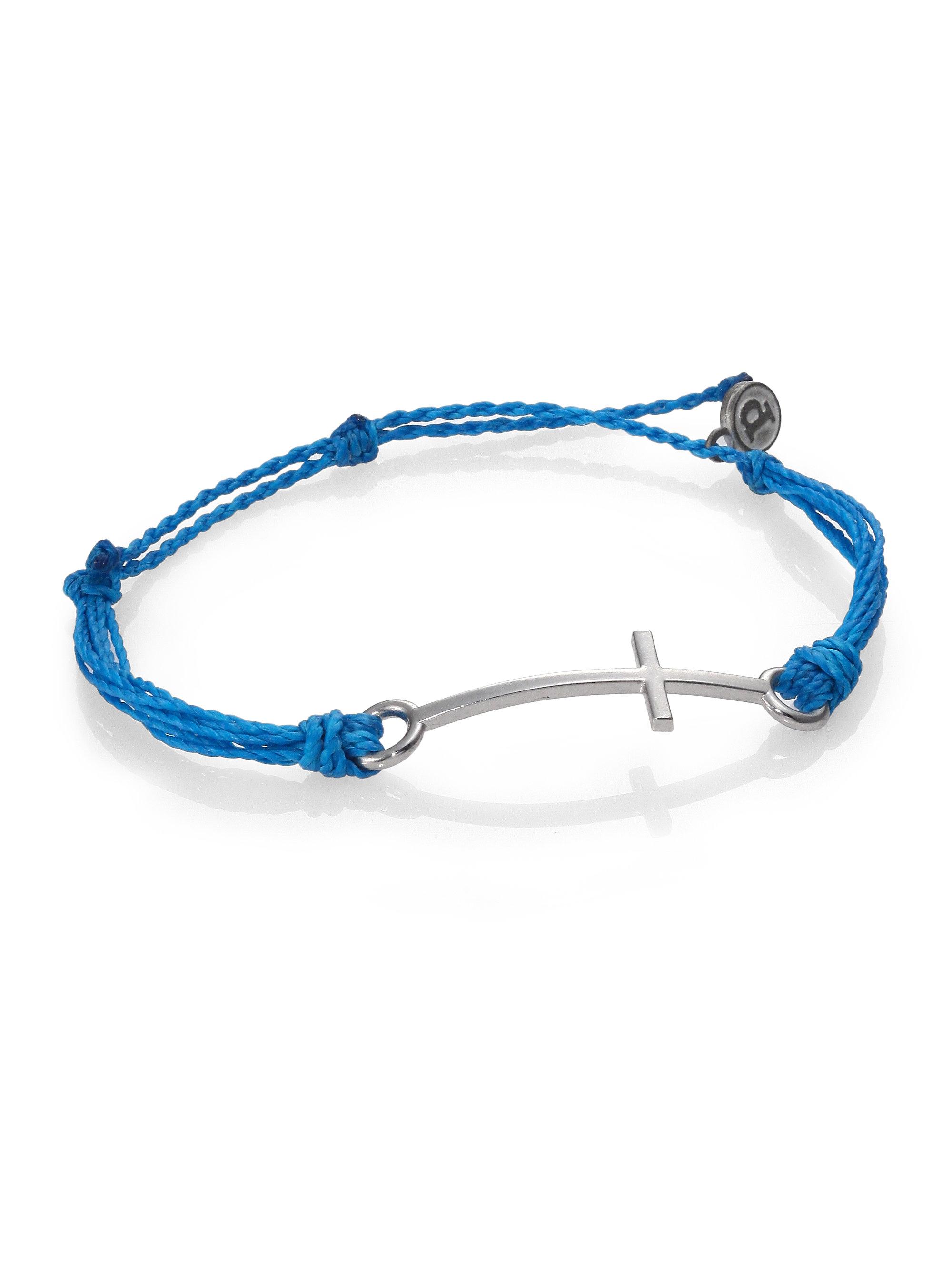 Pura vida Cross Bracelet in Blue