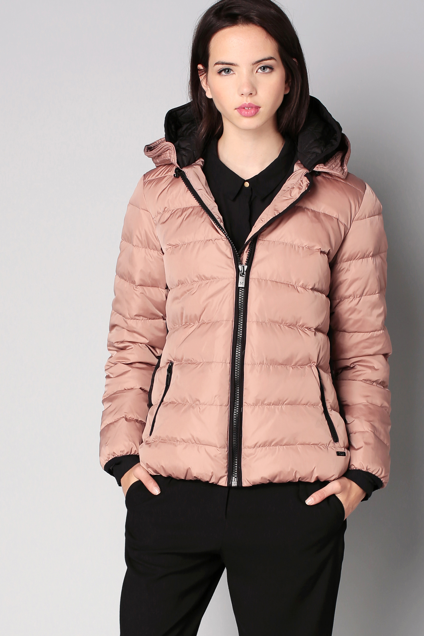 Maison scotch Quilted Jacket in Pink | Lyst