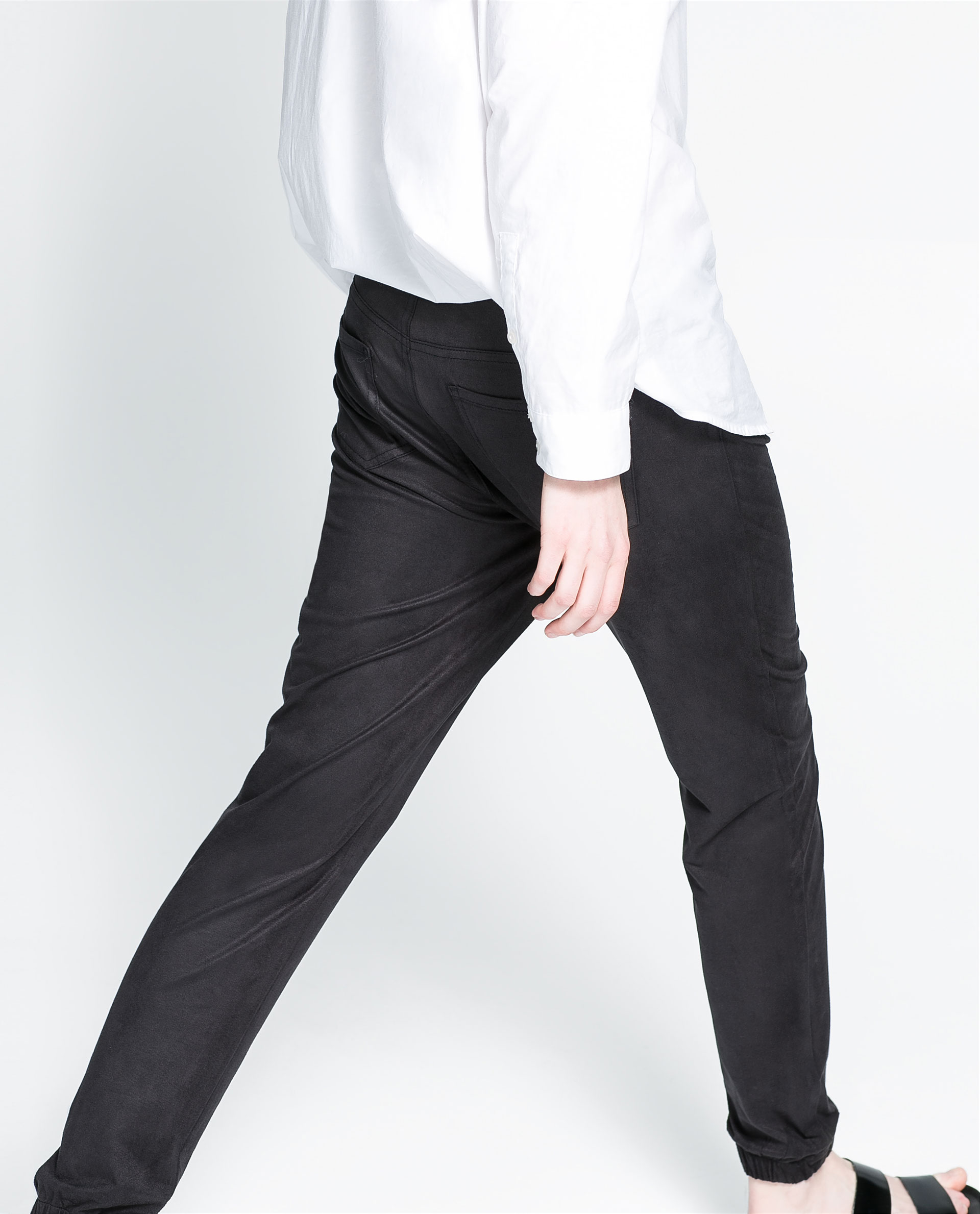 Fantastic Zara Baggy Jogging Pants In Black  Lyst