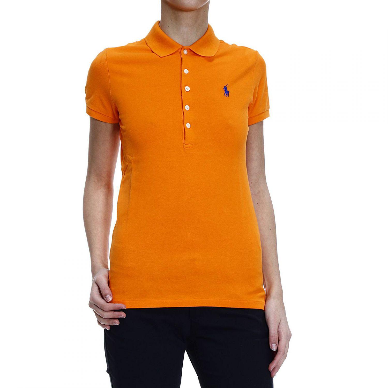 ralph lauren orange t shirt polo 5 buttons half sleeve. Black Bedroom Furniture Sets. Home Design Ideas